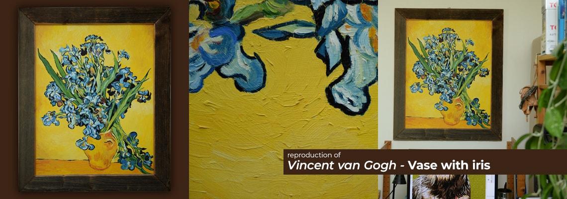 Vincent Van Gogh - Vase with iris
