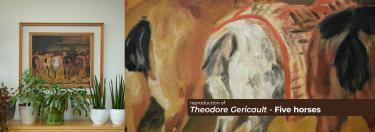 Theodore Gericault - Five horses